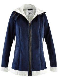 Куртка-дубленка из искусственной овчины (темно-синий) Bonprix