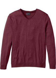 Пуловер Regular Fit с кашемиром (кленово-красный) Bonprix