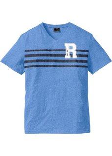 Меланжевая футболка Regular Fit (голубой меланж) Bonprix