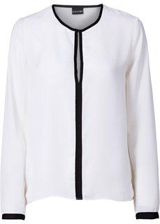 Блузка (цвет белой шерсти/черный) Bonprix