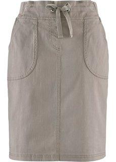 Эластичная юбка-карандаш (серо-коричневый) Bonprix