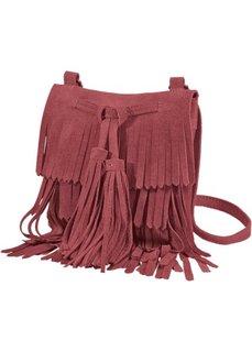 Замшевая сумка с бахромой (бордовый) Bonprix
