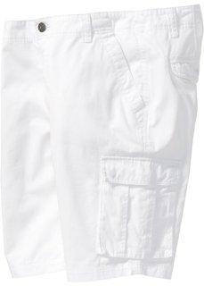 Бермуды-карго Loose Fit (белый) Bonprix