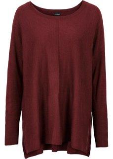 Пуловер в стиле оверсайз (кленово-красный) Bonprix
