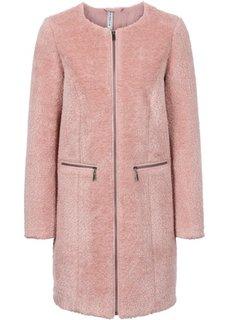 Плюшевая шубка (винтажно-розовый) Bonprix