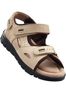 Кожаные сандалии (бежевый/коричневый) Bonprix