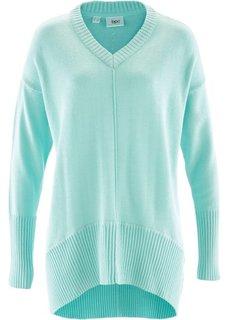 Пуловер в стиле оверсайз (мятный пастельный) Bonprix