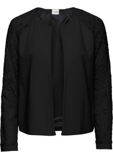 Куртка с кружевными рукавами (черный) Bonprix