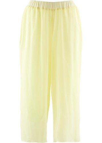 Шифоновые брюки длины 3/4 (лимонный сорбет)