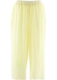 Шифоновые брюки длины 3/4 (лимонный сорбет) Bonprix