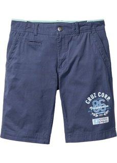 Бермуды-чиносы Regular Fit (темно-синий) Bonprix
