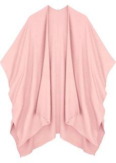 Легкое пончо с бахромой (розовый) Bonprix