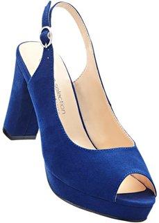 Босоножки с открытым носком (синий) Bonprix
