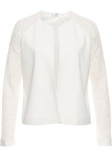 Куртка с кружевными рукавами (цвет белой шерсти) Bonprix