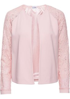 Куртка с кружевными рукавами (розовый) Bonprix