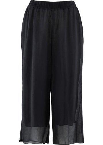 Шифоновые брюки длины 3/4 (черный)