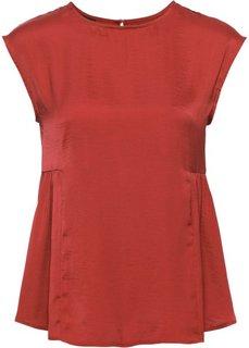 Сатиновая блузка (кирпично-красный) Bonprix