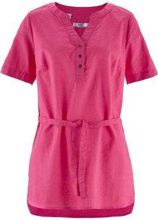 Льняная туника (горячий ярко-розовый) Bonprix