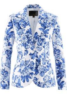 Пиджак (лазурный/темно-синий с рисунком) Bonprix