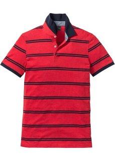 Футболка-поло Regular Fit (темно-красный в полоску) Bonprix