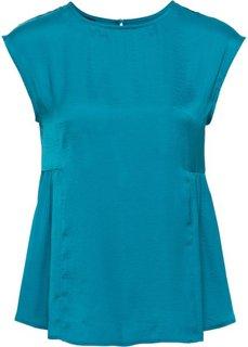 Сатиновая блузка (сине-зеленый) Bonprix