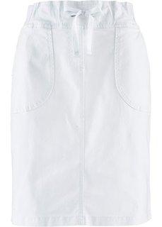 Эластичная юбка-карандаш (белый) Bonprix