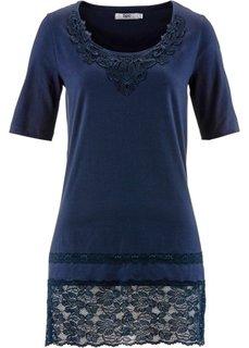 Удлиненная футболка (темно-синий) Bonprix