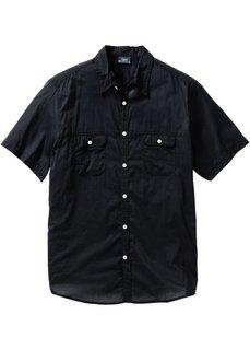 Рубашка Regular Fit с короткими рукавами (черный) Bonprix