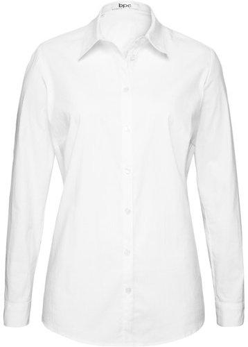 Блузка-рубашка с длинными рукавами (белый)