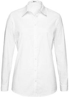 Блузка-рубашка с длинными рукавами (белый) Bonprix