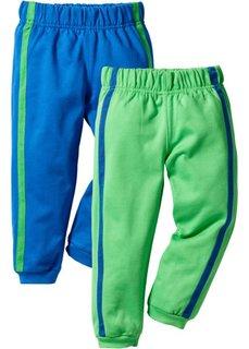 Трикотажные брюки (2 шт.) (лазурный/зеленый майский) Bonprix