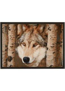 Коврик для двери Волк (коричневый) Bonprix