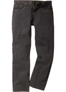 Джинсы Regular Fit Straight, cредний рост (N) (серый) Bonprix