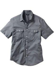 Рубашка Regular Fit с короткими рукавами (дымчато-серый) Bonprix