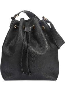 Сумка-мешок с дополнительной сумкой (черный) Bonprix