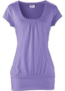 Длинная футболка стретч (нежно-лиловый) Bonprix