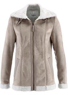 Куртка-дубленка из искусственной овчины (натуральный камень) Bonprix