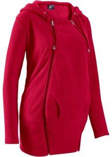 Флисовая куртка для беременных, со вставкой для малыша (темно-красный) Bonprix