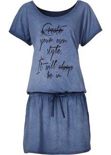 Трикотажное платье (синий с варенкой) Bonprix
