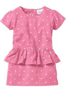 Детское платье с баской (бледно-пурпурный) Bonprix