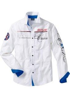 Рубашка с длинными рукавами (белый) Bonprix