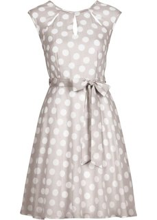 Платье в горошек (песочный/белый в горошек) Bonprix
