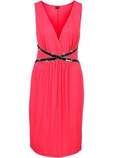Трикотажное платье (темно-красный) Bonprix