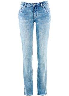 Прямые джинсы-стретч, низкий рост K (голубой) Bonprix