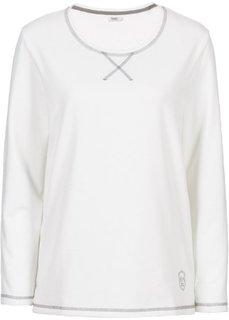 Свитшот с длинным рукавом (цвет белой шерсти) Bonprix