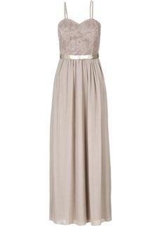 Платье (натуральный/золотистый) Bonprix
