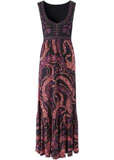 Макси-платье (черный/коралловый) Bonprix