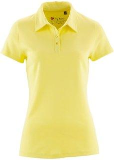 Футболка-поло с коротким рукавом (нежно-лимонный) Bonprix