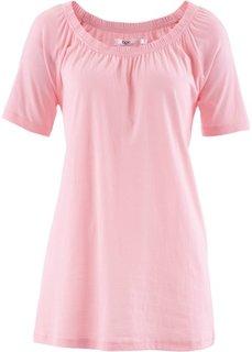 Футболка с короткими рукавами реглан (розовая пудра) Bonprix