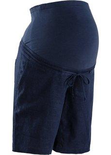 Мода для беременных: льняные шорты (темно-синий) Bonprix